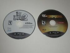 DJ Hero 2, Def Jam Rap Star - Playstation 3 PS3 Games Lot Of 2  - Disc Only