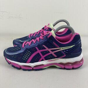Asics Gel Kayano Womens Running Shoes US 7 Pink Purple Hardly Worn Free Postage