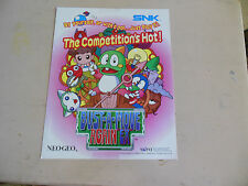 BUST A MOVE AGAIN   EX   SNK NEO GEO  ARCADE   GAME  FLYER