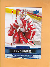 2017 18 UPPER DECK OVERTIME BLUE #92 JIMMY HOWARD DETROIT RED WINGS