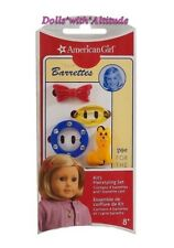 NEW American Girl Kit's Hairstyling Set 4 Barrettes Clips Red Blue Yellow