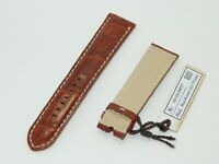 HandCraft JAEGER LECOULTRE Reverso Classiques Watch Band Brown Alligator 20/18mm