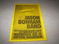 Vintage Jason Bonham Band Concert Poster 11X17