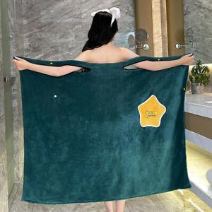 Bath Plush Soft Wearable Towel Dress Women Quick Dry Absorbent Bathrobes Towel
