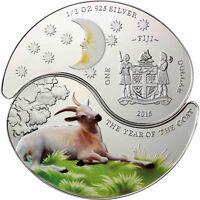 Fiji 2 x 1 Dollar 2015 Jahr der Ziege Doppelmünze Polierte Platte