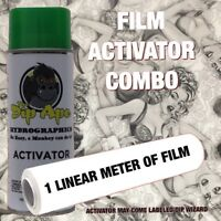 HYDROGRAPHIC FILM COMBO VEIL CAMO ALPINE GREEN DIP APE ACTIVATOR WATER TRANSFER