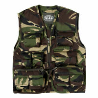 Kids Army Camouflage Action Vest - Ages 3-13 Years Available