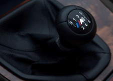 Für BMW Schaltknauf M E46 E34 E36 E39 E60 E83 E30 Leder 6 Gang Schwarz TOP