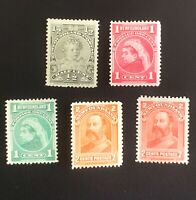 Canada Newfoundland Stamps. SC 78-82. 1897. MH. **COMBINED SHIPPING**