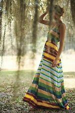 Spectrum Stripe Maxi Dress Dress Tracy Reese Size S NWT Wedding