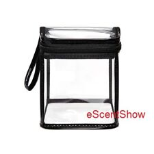 """Mac Clearly Cube Square Clear Zippered Makeup Cosmetic Bag 4.25 x 4.25 x 5.13 """""""