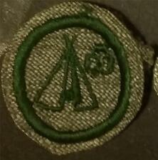 1933-1936 Girl Scout Badge WOODCRAFT- GREY GREEN ROUND