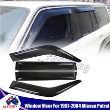 Smoke Weathershields Weather Shields Window Visors For Nissan Patrol GU 97-04