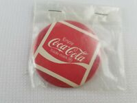 """VINTAGE COLLECTIBLE Enjoy Coca-Cola 2.25"""" Badge by Badge-A-Minit Red White"""