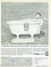 PUBLICITE ADVERTISING 115  1966  CULLIGAN  adoucisseur d'eau