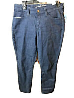 Universal Thread Mid Rise Skinny Jeans Sz 8 Women's stretch dark blue pockets