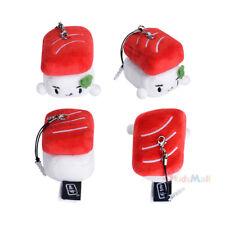 "Cute Cell Phone Dust Plug Jack Charm Plush Keychain Kawaii Tuna Toro Sushi 2.5"""