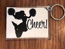 Cheerleading Keychain with Cheerleader