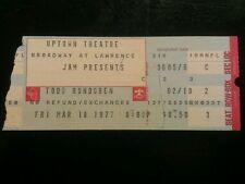 Todd Rundgren Ticket Stub 3/18/1977 Chicago Uptown Very Rare! Make An Offer!