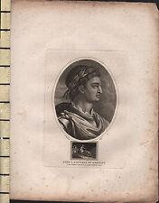 1806 DATED GEORGIAN PRINT ~ OTHO I ~ EMPEROR OG GERMANY