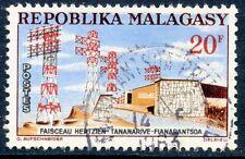 STAMP / TIMBRE DE MADAGASCAR N°377 OBLITERE FAISCEAU HERTZIEN