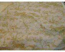 10 Metre Roll The Hunt Shoot Country Green Toile De Jouy Cotton Curtain Fabric