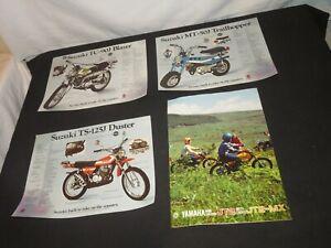 Original Yamaha JT2 & Suzuki TS -90J , TC-125j, Genuine Sales Brochure not repo