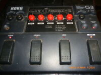 Korg G-3 fully functional,guitar multi effects,no power cord,china's broke