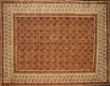 "Kalamkari Block Print Tapestry Cotton Bedspread 108"" x 88"" Full-Queen"