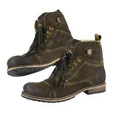 Stiefel Schuhe Trachten Herren Freizeitschuh Bergschuh Wandern braun Echt Leder
