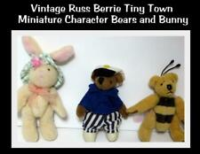 Russ Berrie Tiny Town Miniature Teddy Bears Honey Bee Sailor Bunny