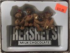 HERSHEY CHOCOLATES w 4 TEDDY BEARS CHRISTMAS ORNAMENT 2008 Kurt Adler NEW in box