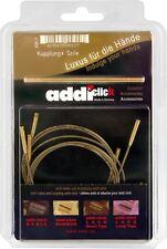 Addi haga clic en los cables y agujas de tejer de bambú Intercambiables Conector Para