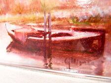Paesaggio Lagunare olio su tela firmato Gennaro Morra (particolare in foto)