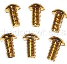 12 (2 Sets) Disc Brake Rotor Bolts Gold Coloured Durable Steel MTB Bicycle Bike