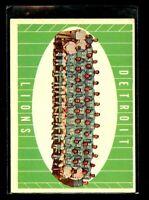 1961 TOPPS #37 DETROIT LIONS EXMINT D022884