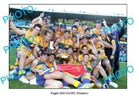 EAGLES 2011 SANFL PREMIERSHIP TEAM LARGE A3 PHOTO