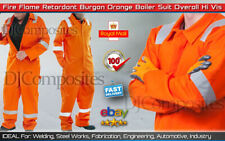 """King Flame Retardant Coverall Overalls Size 48"""" Orange 350GSM"""