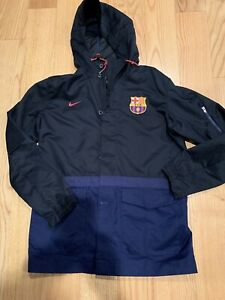 Nike FC Barcelona 15/16 Saturday 2.0 Authentic Jacket Sz M MINT Rare Soccer