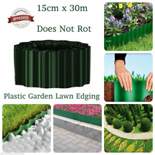 30m PLASTIC GARDEN GRASS LAWN BORDER EDGING BORDER FENCE WALL PATH DRIVEWAY ROLL