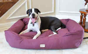 Armarkat Canvas Machine Washable Dog Pet Bed Burgundy MEDIUM