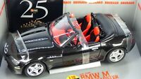 BURAGO BLACK BMW Z3 M 3.2 ROADSTER 1:18 Individual  RED Fabric INTERIOR TOY CAR