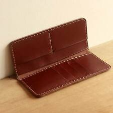 Men/Women Unisex Wallets Bifold Black/Brown Leather Long Hand Made