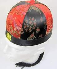Cinese commerciante ROUND HAT DECORATA 61 Oriental Asiatico Costume Accessorio