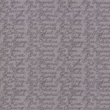 Bee Joyful Novelty Honey Bee Words 19876 16 Pebble Gray Deb Strain Moda fabric