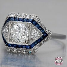 2.80 CT Vintage Art Deco White Diamond 925 Silver Engagement Anniversary Ring