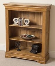 French Rustic Solid Oak Wood Small Bookcase Book Shelf Display Cabinet