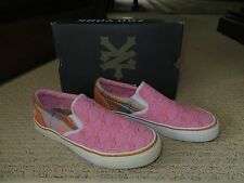 Women's Zoo York Pink & Orange Plaid  Slip On Canvas Shoes Size 6.5 Mint in Box