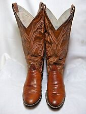 Larry Mahan's Oval Lizard Womens Cowboy Boots Rare   Size 5.5 B Spice #144 OB