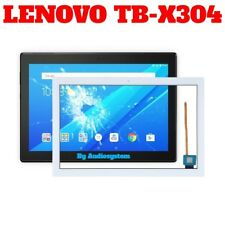 GLS: VETRO+TOUCH SCREEN PER LENOVO TAB 4 10 TB-X304F X304L BIANCO DIGITIZER